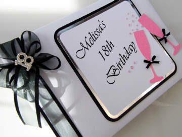 18th Birthday Guest Book - Pink Champagne